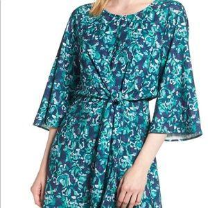 NWT Nordstrom Halogen Tie Dress Blue Green XXL